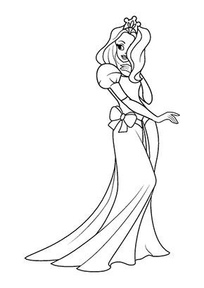 Ausmalbild Prinzessin Tanzt Gratis Ausdrucken
