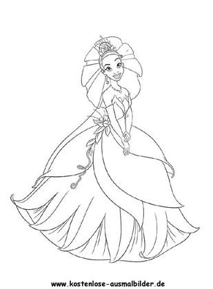 Ausmalbilder Malvorlagen Schöne Prinzessin
