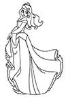 Ausmalbild Prinzessin Cinderella