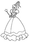Ausmalbild Prinzessin verzaubert