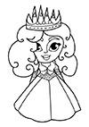 Ausmalbild kleine Prinzessin