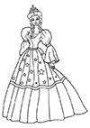 Ausmalbild koenligliche Prinzessin