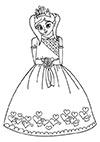 Ausmalbild verliebte Prinzessin