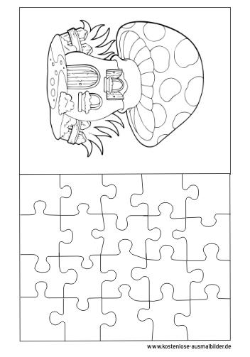 Ausmalbilder Malvorlagen Puzzle Vorlage