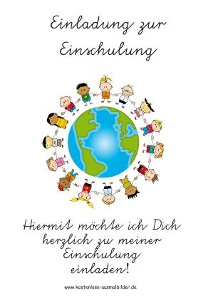 Einladung Schulanfang - Schule ausmalen | Malvorlagen Schulanfang