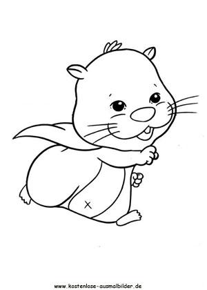 Kleurplaat T Shirt Ausmalbilder Zhu Zhu Pets Ausmalbild Hamster 4