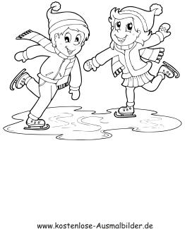 Ausmalbilder Eislaufen