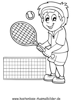 Ausmalbilder Tennis spielen