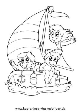 Ausmalbilder segeln