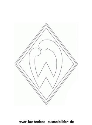 Werder Bremen Vereinswappen Fussball Ausmalen Malvorlagen
