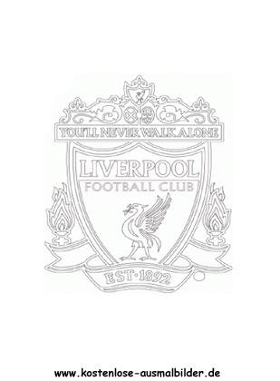 FC Liverpool - Vereinswappen-Fussball ausmalen ...