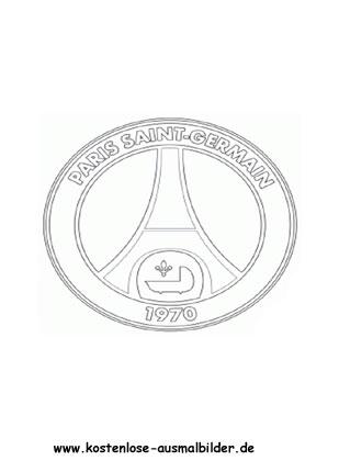 Paris Sg Vereinswappen Fussball Ausmalen Malvorlagen Frankreich