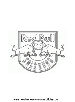 Ausmalbilder Malvorlagen Fc Red Bull Salzburg
