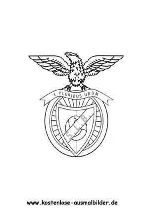 Ausmalbilder Malvorlagen Benfica Lissabon