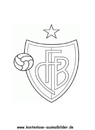 Fc Basel Vereinswappen Fussball Ausmalen Malvorlagen Schweiz