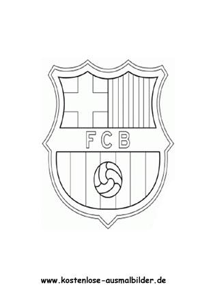 Fc Barcelona Vereinswappen Fussball Ausmalen Malvorlagen Spanien