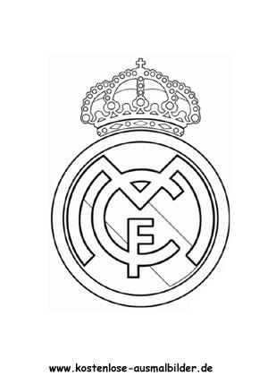 Ausmalbilder Malvorlagen Real Madrid