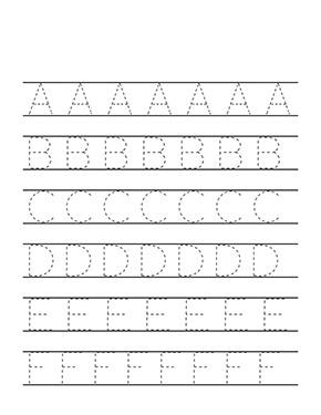 Arbeitsblatt Buchstabe A B C D E F