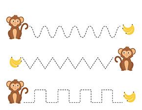 Arbeitsblatt Affen und Bananen