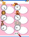 Arbeitsblatt Uhr mit Bieber