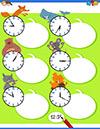 Arbeitsblatt Uhr mit Fuchs