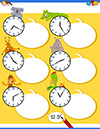 Arbeitsblatt Uhr mit Koala