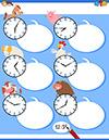 Arbeitsblatt Uhr mit Pferd