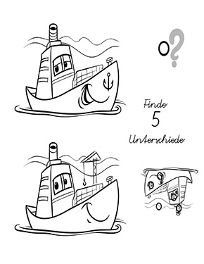 Arbeitsblatt Suchbild Boot