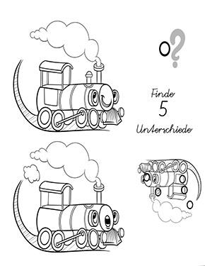 Arbeitsblatt Suchbild Lokomotive