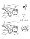 Arbeitsblatt Suchbild Flugzeug
