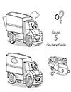 Arbeitsblatt Suchbild Lastwagen