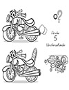 Arbeitsblatt Suchbild Motorrad
