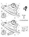 Arbeitsblatt Suchbild Raumschiff