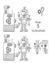 Arbeitsblatt Suchbild Roboter