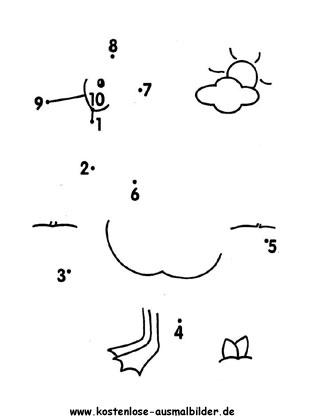ausmalbilder zahlen zum ausdrucken - x13 ein bild zeichnen