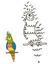 Ausmalbilder Zahlenbild Papagei