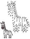 Ausmalbilder Zahlenbild Zebra