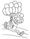 Ausmalbild Clown mit Luftballons