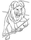 Ausmalbild Löwe im Zirkus
