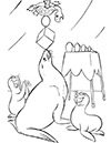 Ausmalbild Tiere im Zirkus