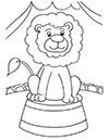 Ausmalbild Zirkus Löwe