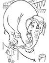Ausmalbild Zirkustier Elefant