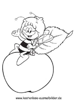 maja - fernsehen ausmalen | malvorlagen biene maja