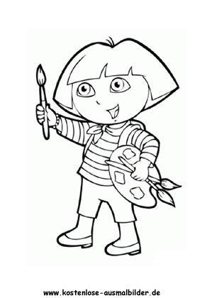 Ausmalbild Dora 10