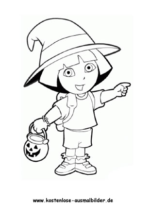 Ausmalbild Dora 12