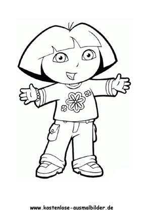 Ausmalbild Dora 13
