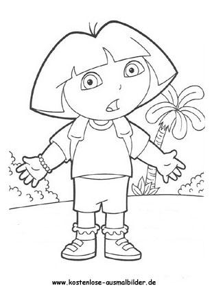 Ausmalbild Dora 3