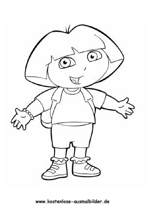 Ausmalbild Dora 4