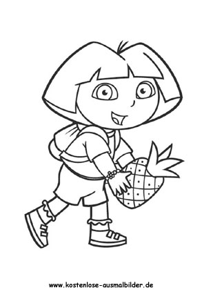 Ausmalbild Dora 6