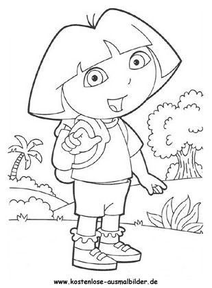 Ausmalbild Dora 7